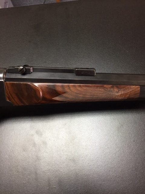 Forend checker of Ruger #1 stock
