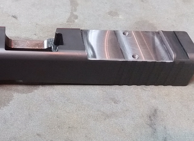 RMR cut finished with holes drilled and tapped