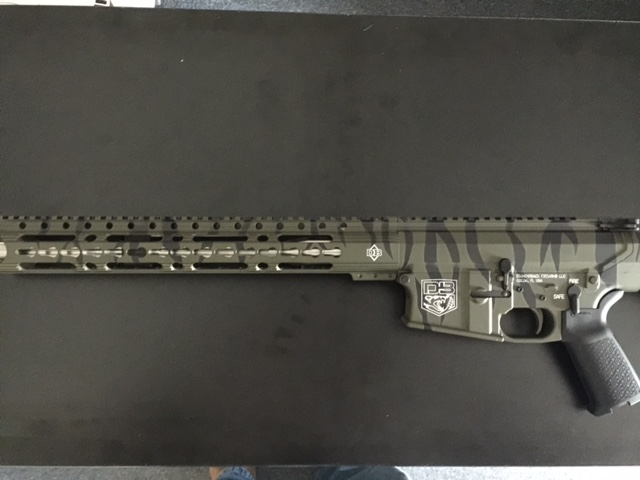 Cerakote tiger strip camo pattern