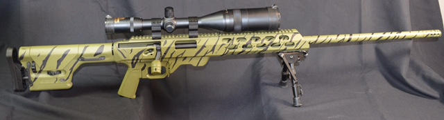 AR15 Cerakoted in forest green and graphite black