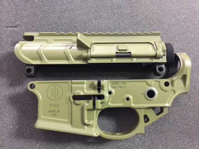 Receiver cerakoted in bazooka green