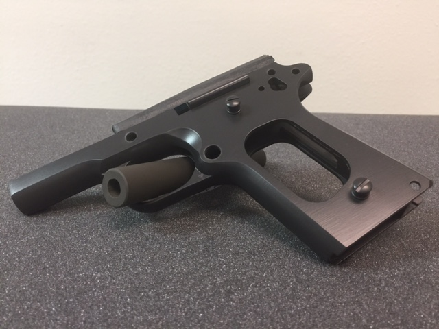 1911 Frame cerakoted in graphite black color