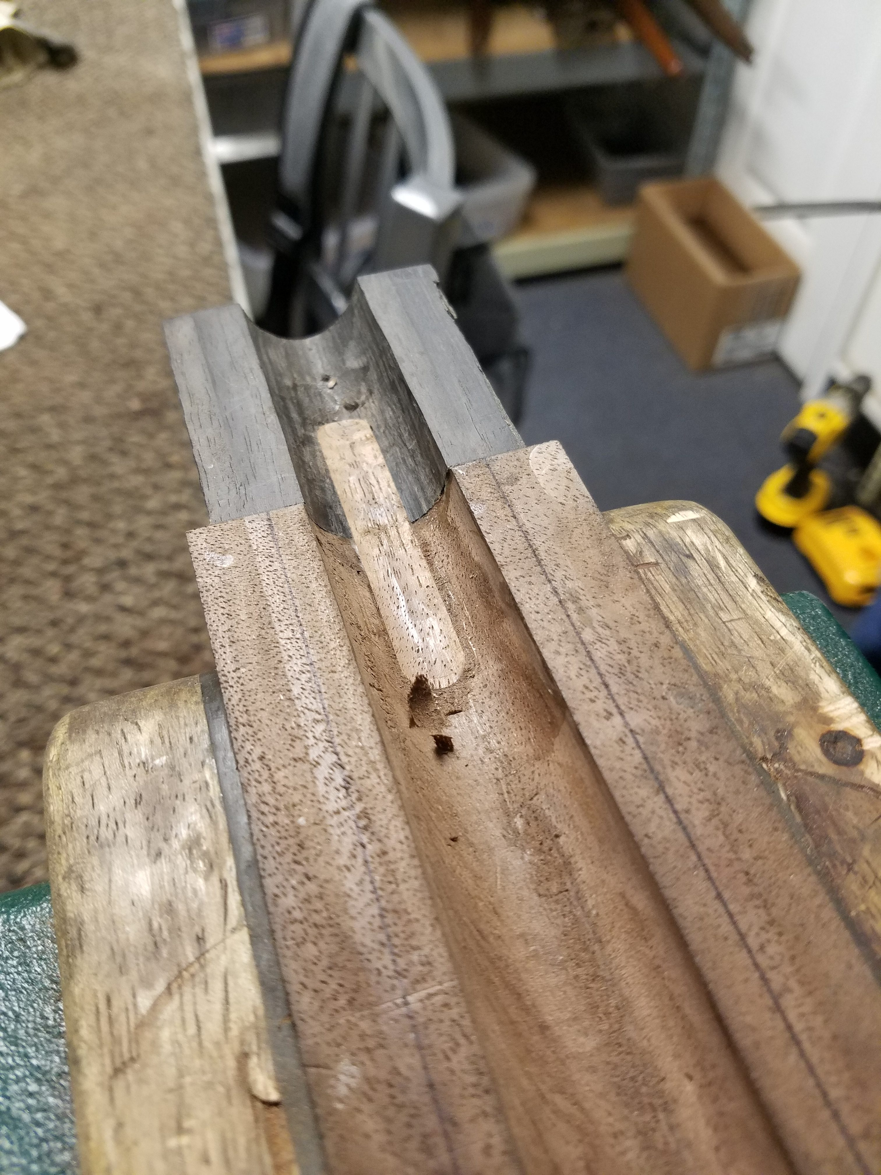 Ebony tip support complete on our shotgun