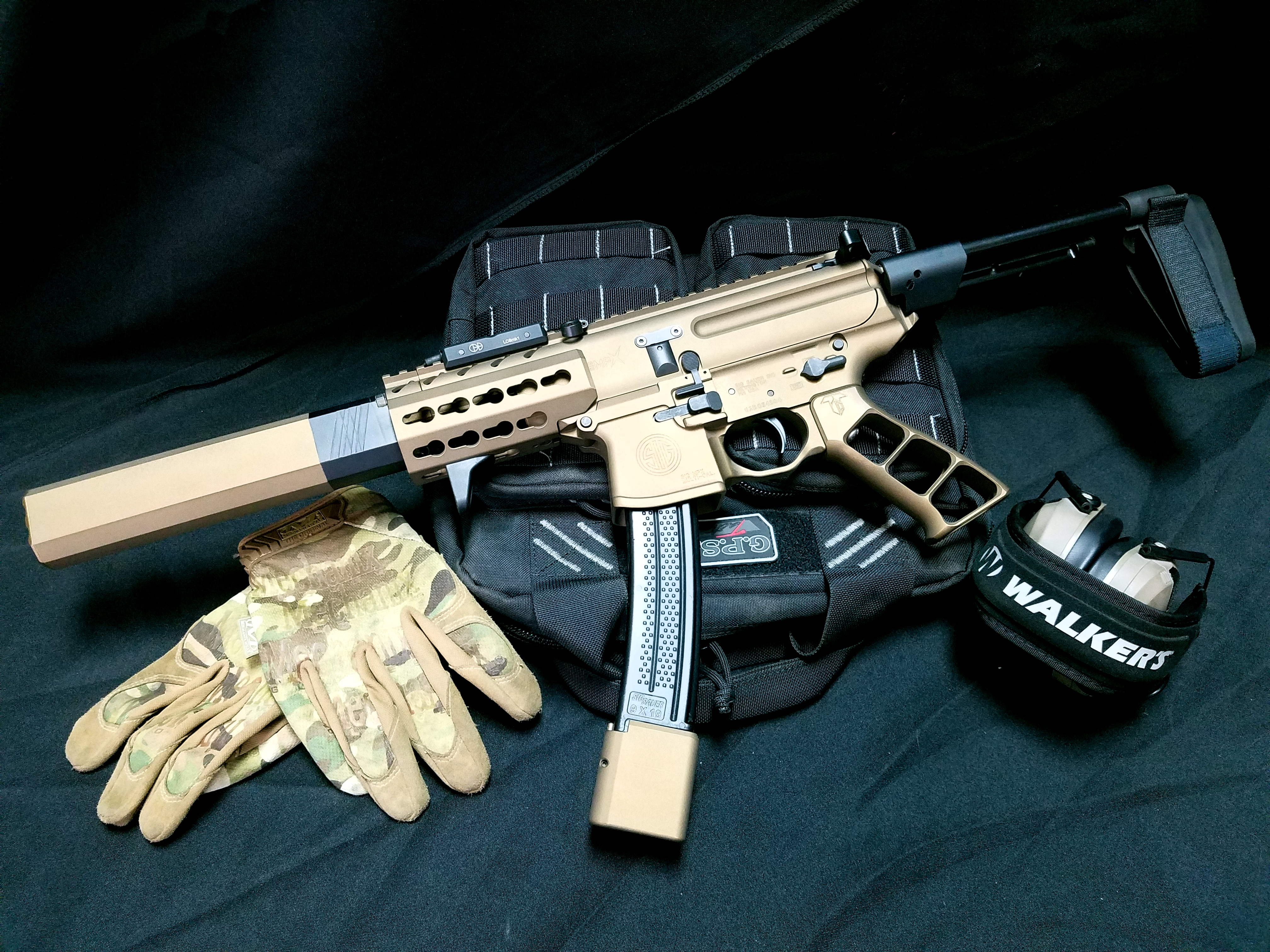 Cerakote Bronze and Black Sig Sauer MPX 9mm