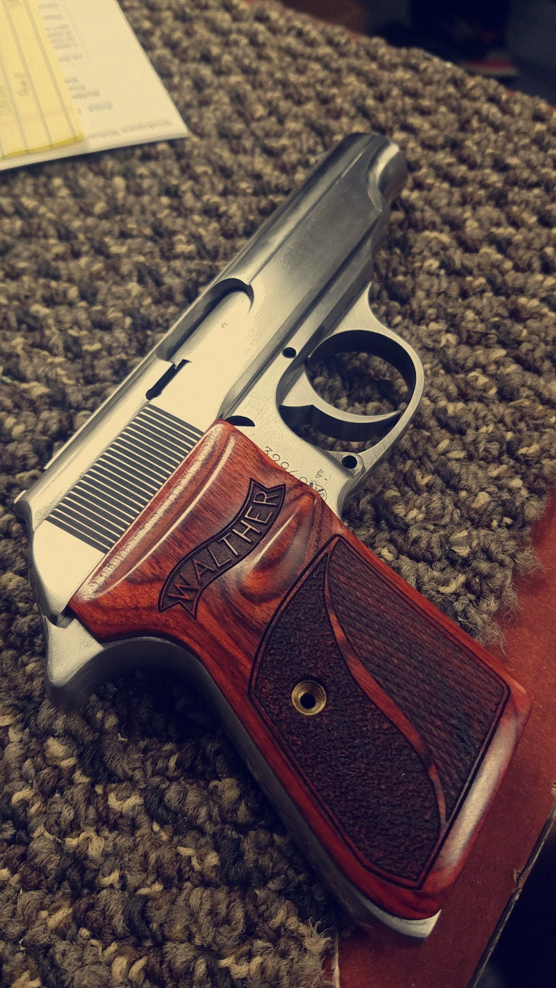 Walther pistol rescue after water damage