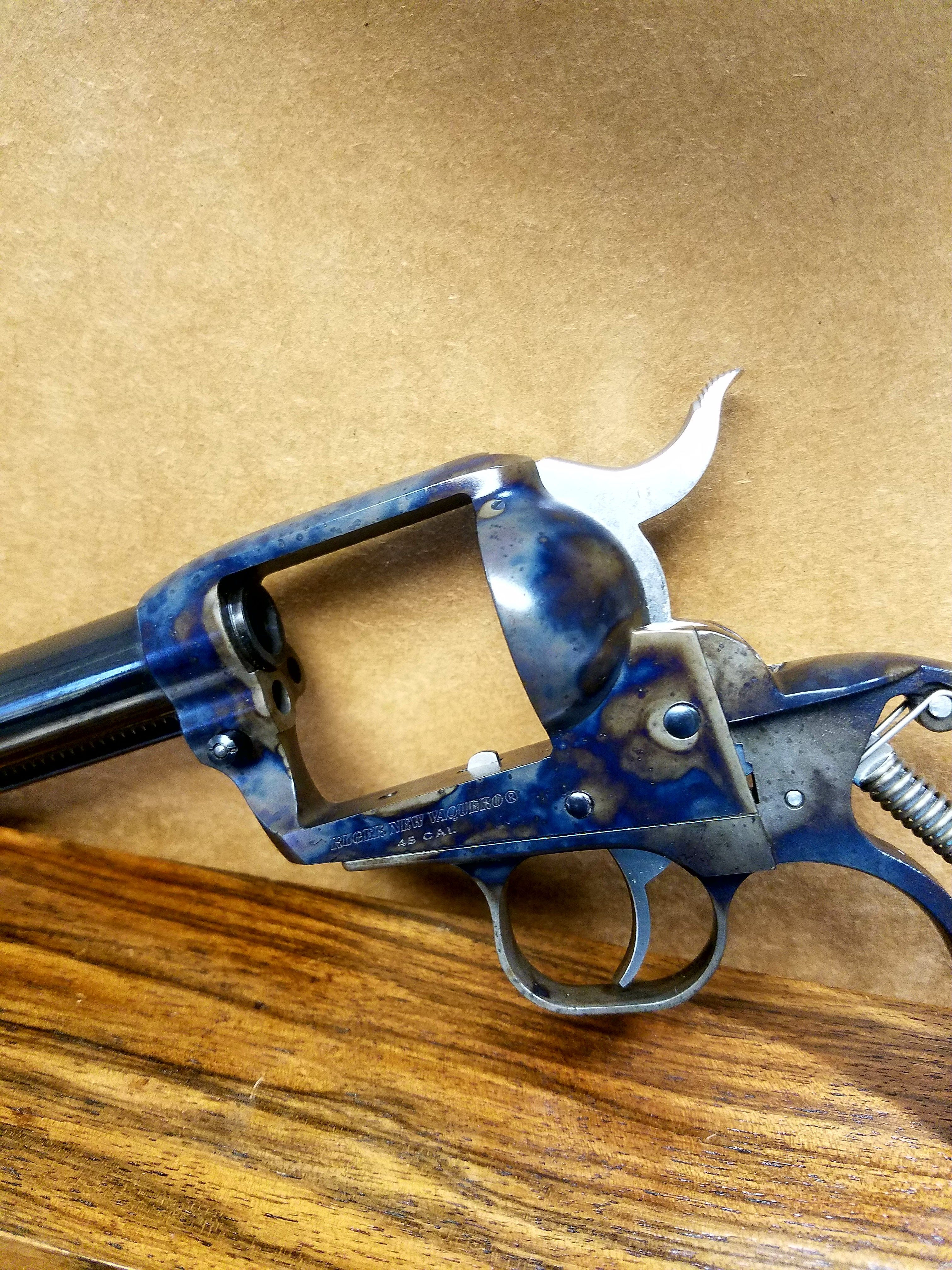 Color Case left side of Ruger vaquaro revolver