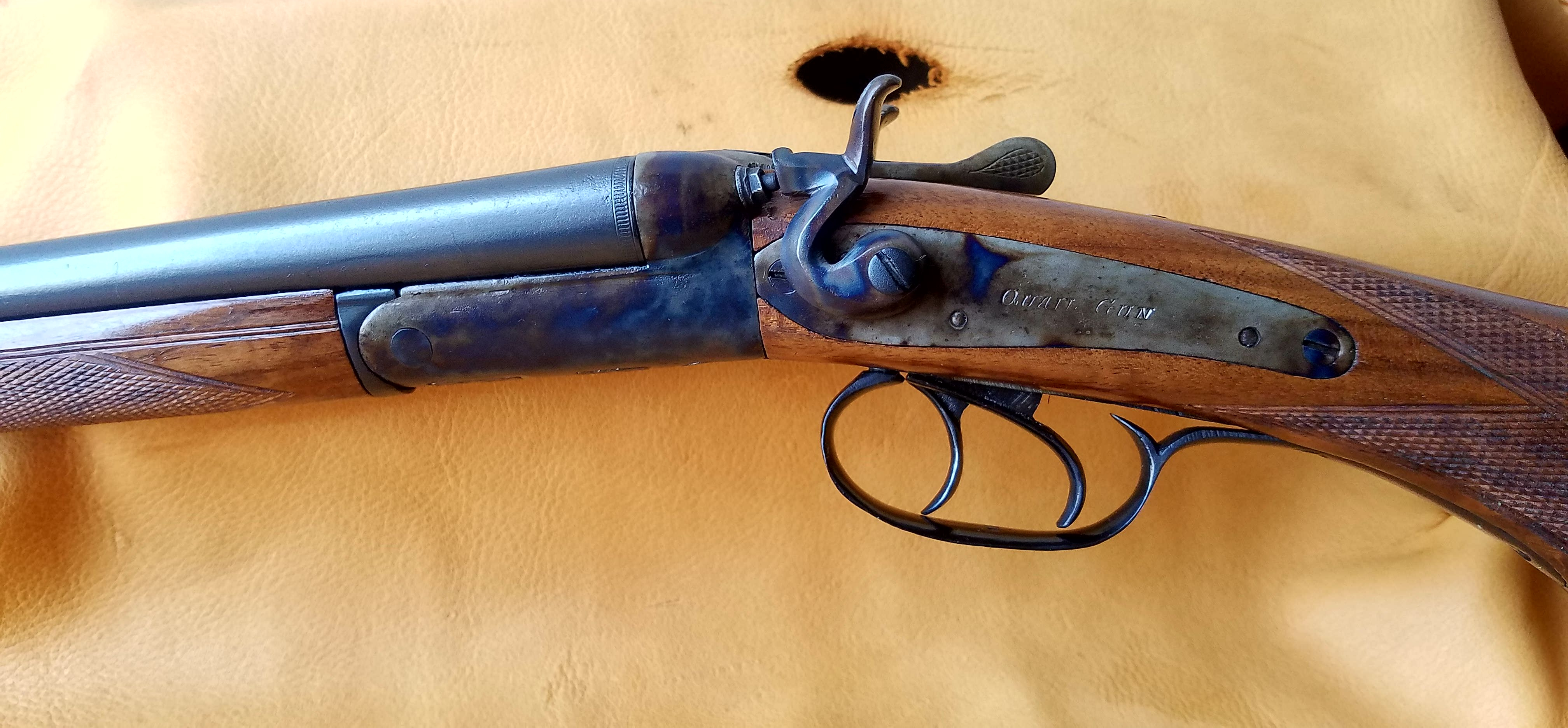 Belgium Quail Gun looking at the left side of Color Case