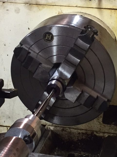 Starting the cutting on the Chamber of a 270 Winchester