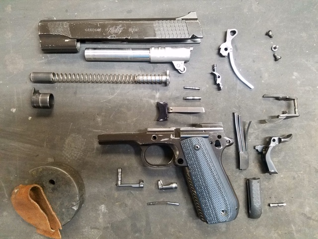 Doing a deep clean, oil, assemble on a Kimber 1911
