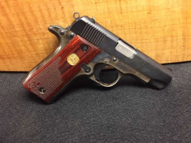 color case of a colt handgun