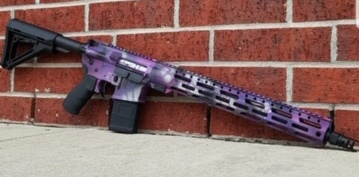 kryptek AR silver, bright purple, and pink cerakote by Lohman Gunsmith pic 1 of 2