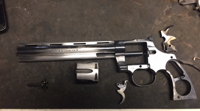 Flood restoration on Colt Python before restoration